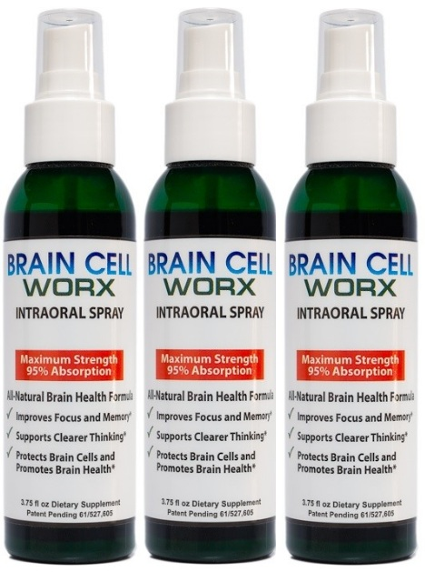 3 PACK DEAL - SAVINGS - Brain Cell Worx - Improves Focus and